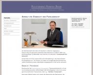 Bild Webseite Rechtsanwalt Heinrich Bruns Bremen