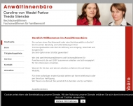Bild Webseite Anwältinnenbüro von Wedel-Parlow & Giencke Berlin