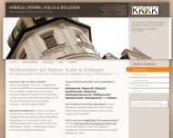 Bild Webseite Kanzlei Köhne, Kulle & Kollegen Rechtsanwaltsgesellschaft München