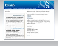 Bild Webseite Rechtsanwalt Christoph Freund Berlin