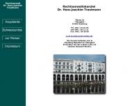 Bild Webseite Rechtsanwalt Dr. Hans Joachim Trautmann Hamburg