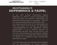 Website Deters & Deipenbrock Rechtsanwälte