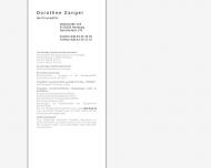 Bild Webseite Zanger Dorothee Rechtsanwältin Hamburg
