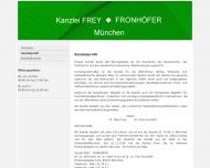Website Frey Peter Dr. u. Fronhöfer Paul Dr. Rechtsanwälte