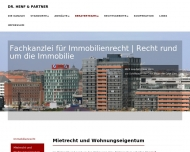 Website Henf Dr. & Partner Rechtsanwälte