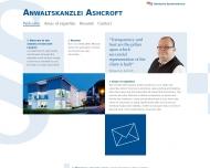 Willkommen bei der Anwaltskanzlei Ashcroft - Deutsch