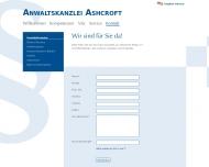 Website Ashcroft Michael A.C. Rechtsanwalt