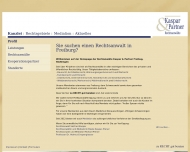 Bild Webseite Rechtsanwälte Kaspar & Partner Freiburg im Breisgau