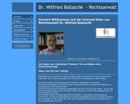 Bild Webseite Ballaschk Wilfried Dr. Rechtsanwalt Berlin