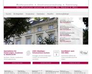 Bild Webseite Pantaleon genannt Stemberg Heinz Dr. , Nehrig Ulrich , Weis Christoph Rechtsanwälte Freiburg im Breisgau