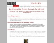 Bild Webseite Simon, Evers & Dr. Klimsch Rechtsanwälte Freiburg im Breisgau
