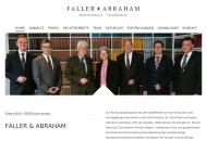 Bild Webseite Faller & Abraham Rechtsanwälte Freiburg im Breisgau