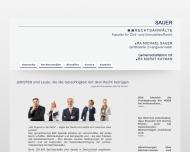 Website Sauer Rechtsanwälte