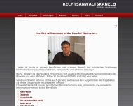 Bild Webseite Rechtsanwalt Ingmar Warnicke Lübeck