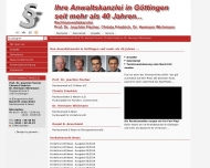 Bild Webseite Rechtsanwalt Dr. Hermann Wichmann Göttingen