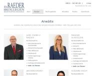 Bild Webseite Raeder & Kollegen Rechtsanwälte Nürnberg