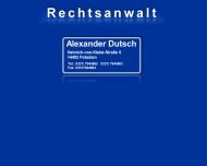 Rechtsanwaltskanzlei Alexander Dutsch - Internetauftritt in K?rze