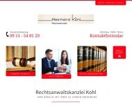 Bild Webseite Rechtsanwalt Reinhard Kohl Nürnberg