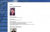 Website Kazzer Peter Rechtsanwalt und Patentanwalt