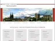 Bild Webseite Rechtsanwältin Nicole Kahle Köln