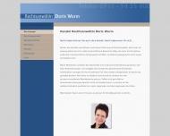 Bild Webseite Rechtsanwältin Doris Wurm Nürnberg