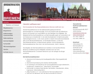 Website Hanseatische Rechtsanwaltskammer Bremer Notarkammer