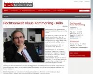 Bild Webseite Kemmerling Klaus Rechtsanwalt Köln