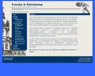 Website Franke Wolfgang , Kleinkamp Lutz Rechtsanwälte