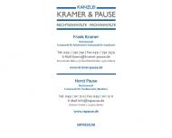 Bild Webseite Kanzlei Kramer und Pause Rechtsanwälte Lübeck