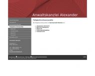 Website Weindel Alexander Rechtsanwalt