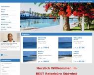 Bild Webseite Reisebüro Suedwind Dachau