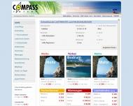 Bild Webseite Compass-Reisen Aachen