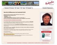 Bild Webseite Australia Plus Reisen München