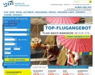 Bild Webseite STA Travel Köln