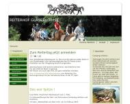 Bild Webseite Reiterhof Gläserkoppel Inh. Susanne Först Postfeld