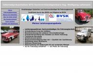 Bild Webseite KFZ-Sachverständigenbüro Ingenieurbüro für KFZ Berlin
