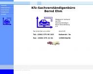 Bild Webseite Ehm Bernd KFZ-Sachverst. Berlin