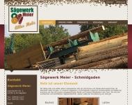 Bild Webseite Meier-Sägewerk Schmidgaden