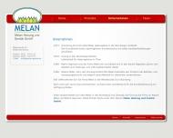 Website Melan Heizung und Sanitär