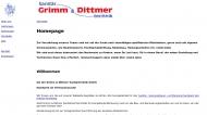 Bild Webseite Grimm & Dittmer Sanitärtechnik Wedel