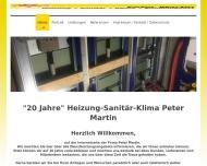 Website Martin P. Heizung  L�ftung  und Sanit�ranlagenbau