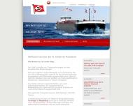 Bild Webseite B. Dettmer Reederei Bremen