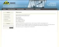 Website ABP Überbetrieblicher Sicherheitstechn.Dienst Partnerschaft Tenschert & Hinz Fachingenieur für Arbeitsschutz