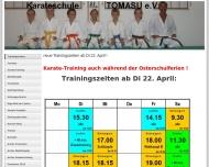Karateschule TOMASU e.V. - neue Trainingszeiten ab Di 22. April