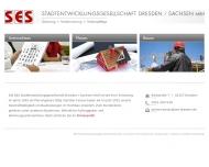Website Stadtentwicklungsgesellschaft Dresden/Sachsen