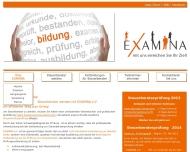 Bild Webseite EXAMINA München