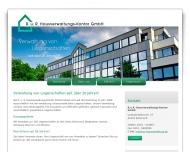Website R. und R. Hausverwaltung  Kontor
