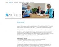 Website ARTCON Steuerberatungsgesellschaft