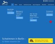Bild Webseite Berliner Bäder-Betriebe Berlin
