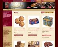 Bild Webseite Türmer Lebkuchen- und Süßwarenvertrieb Nürnberg